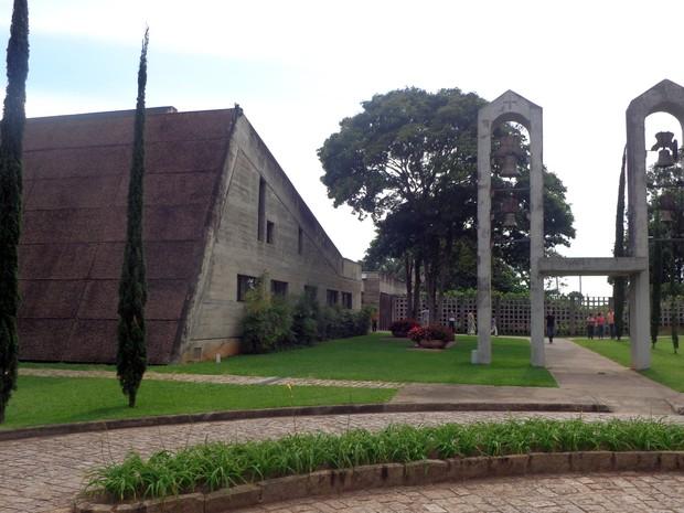 Mosteiro de São Bento, em Vinhedo (SP) (Foto: Matheus Filippi/G1)