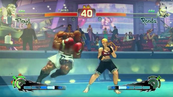 Mod traz Ronda Rousey e Floyd Mayweather para Street Fighter 4 (Foto: Reprodução/Polygon)