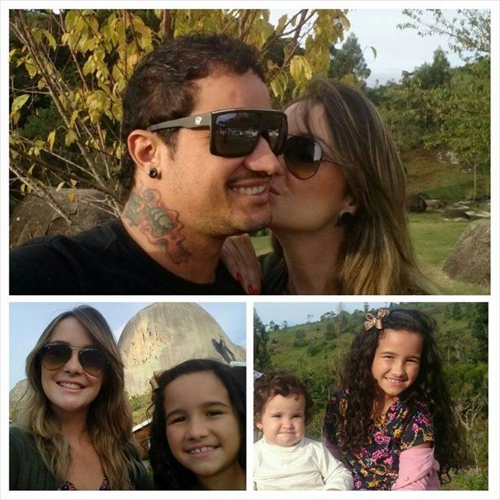 Wald, Rodrigo e as filhas  (Foto: Arquivo Pessoal)