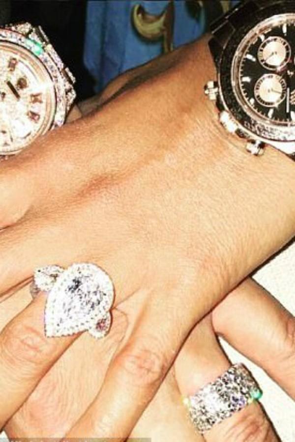 Mel B e seu anel de quase R$2mi (Foto: Reprodução/Instagram)