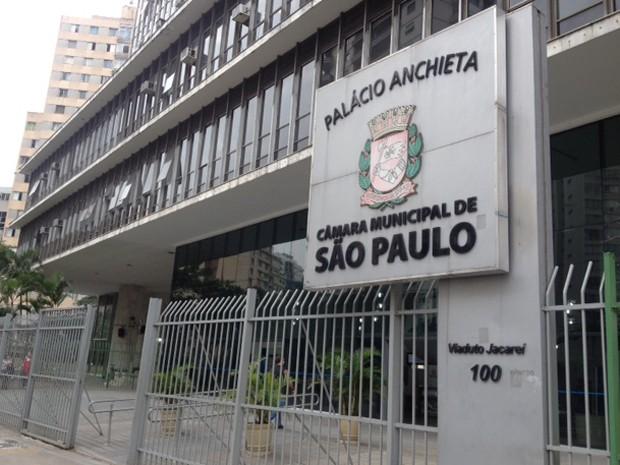 Fachada da Câmara Municipal de SP  (Foto: Roney Domingos/ G1)