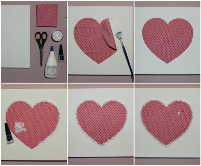 Mistura com Rodaika quadro de coração Dani Schneider (Foto: Montagem sobre fotos de Dani Schneider)