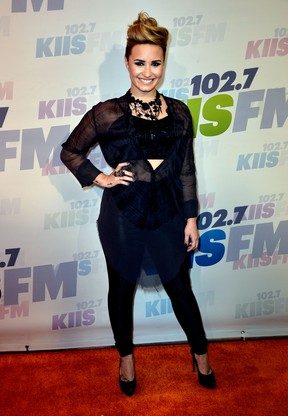 Demi Lovato em evento na Califórnia, nos Estados Unidos (Foto: Frazer Harrison/ Getty Images/ AFP)