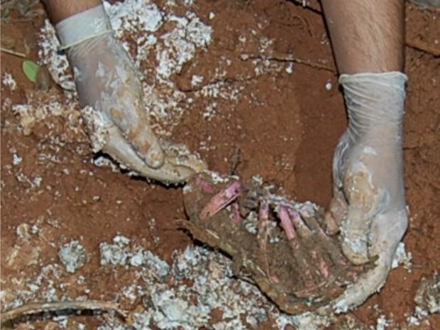Em setembro de 2012 Breno contou à Polícia Civil onde estava o corpo de Nívea Victória. (Foto: Divulgação Polícia Civil)