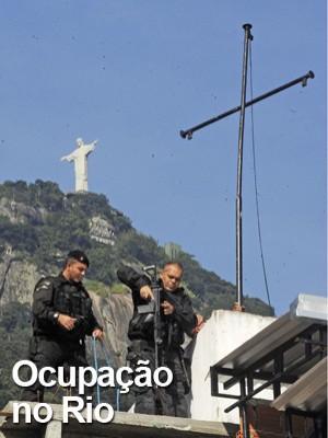 Em 30 minutos, 400 homens do Bope ocupam o Cerro-Corá (FÁBIO TEIXEIRA/ESTADÃO CONTEÚDO)