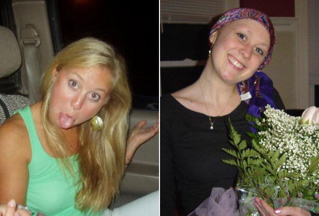 Glenna Kohl em fotos antes da doença e durante o tratamento contra o câncer (Foto: Reprodução / Facebook)