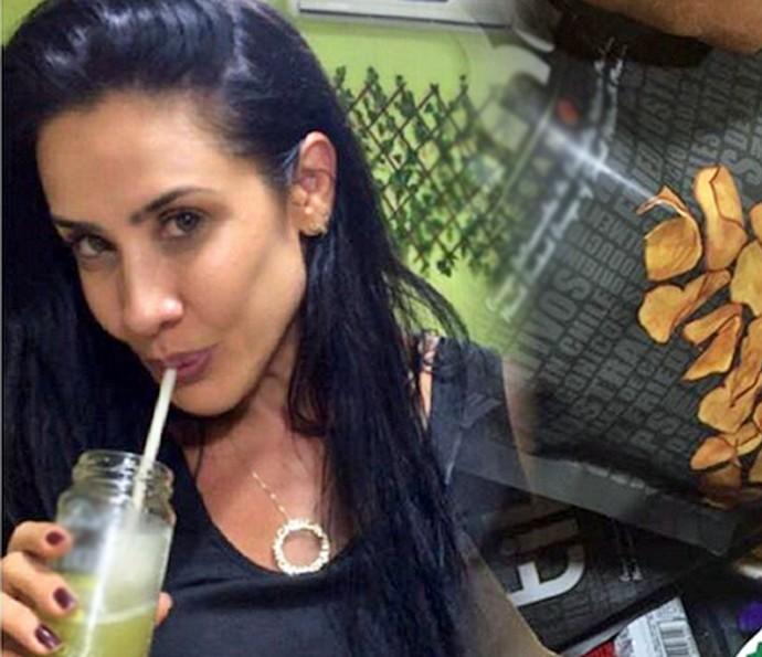 Scheila Carvalho indica suco detox (Foto: Arquivo Pessoal)