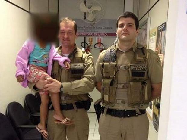Menina de MS estava desaparecida desde o dia 29 de julho  (Foto: Polícia Militar/Divulgação)