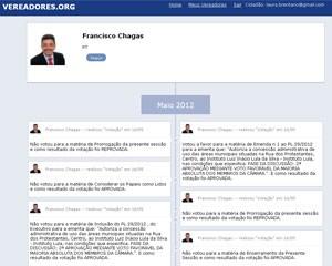 Perfil dos vereadores mostra as últimas ações dos políticos na Câmara Municipal (Foto: Reprodução)