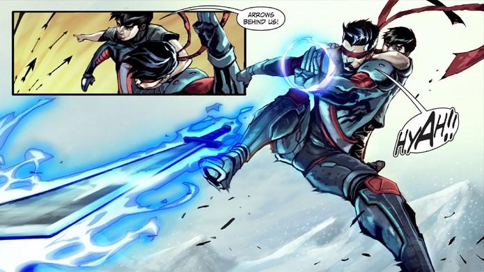 Kenshi e Takeda apareceram nos quadrinhos de Mortal Kombat X (Foto: Reprodução/Shoryuken)