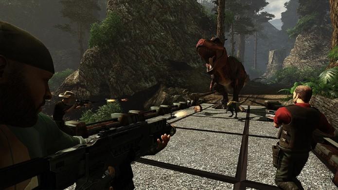 Primal Carnage: Extinction trará combates multiplayer entre dinossauros e mercenários (Foto: PlayStation Blog)