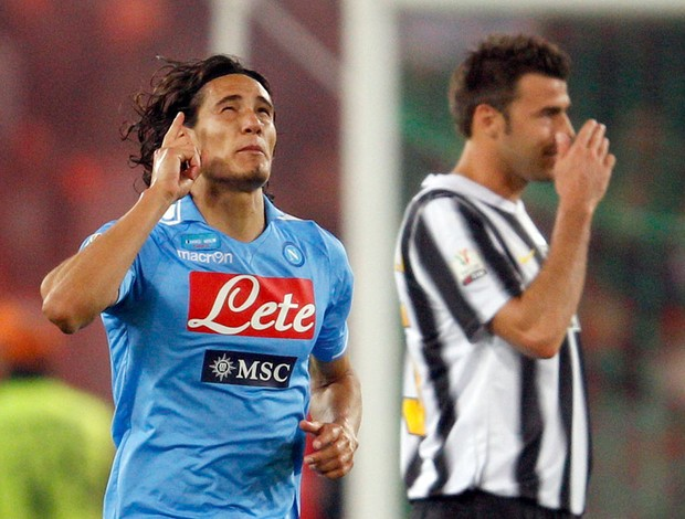 Cavani gol Napoli (Foto: Reuters)