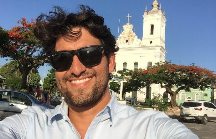 Alessandro Timbó deixou a barba crescer um pouco, mas depois desistiu (Foto: Divulgação)