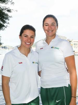 Fernanda Oliveira e Ana Barbachan estão classificadas para o Rio 2016 na vela (Foto: Divulgação)