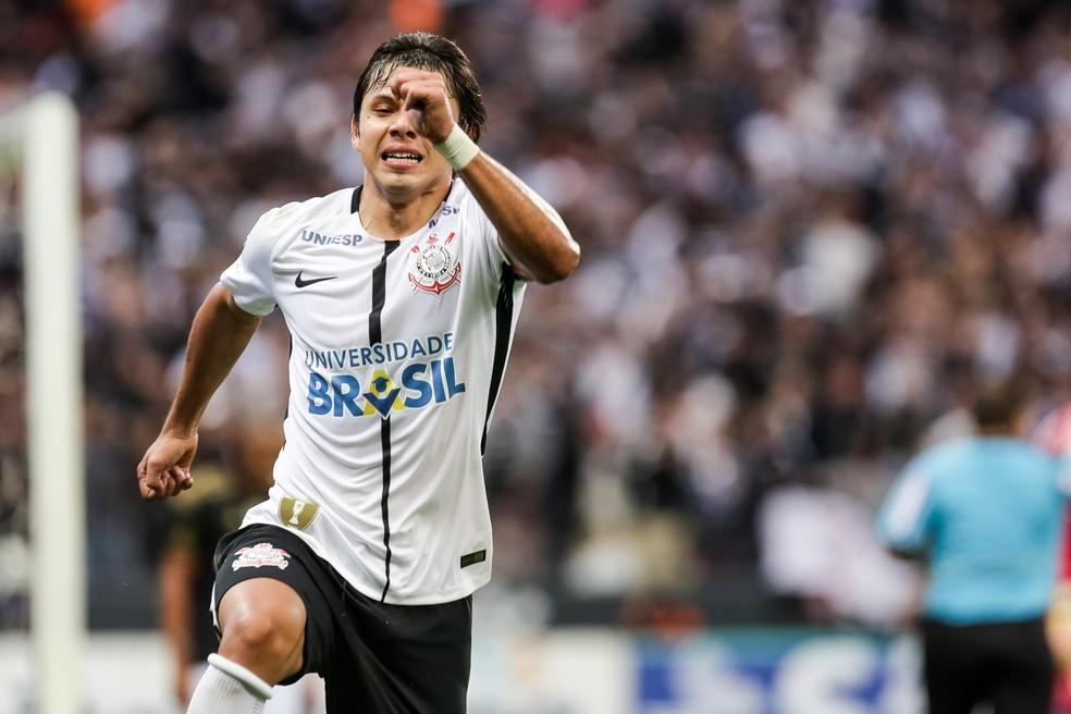 Romero é o artilheiro da Arena Corinthians: 18 gols (Foto: Daniel Augusto Jr. / Agência Corinthians)