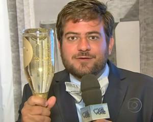 Espumante de ouro (Foto: Mais Você / TV Globo)