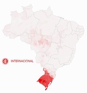 Mapa Internacional (Foto: GloboEsporte.com)