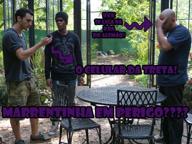VISH! O Sal achou o celular da Lia lá no jardim secreto! Vai dar treta, hein! (Foto: Malhação / Tv Globo)