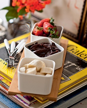 Dip de Nutella com banana (Foto: Rogério Voltan/Editora Globo)