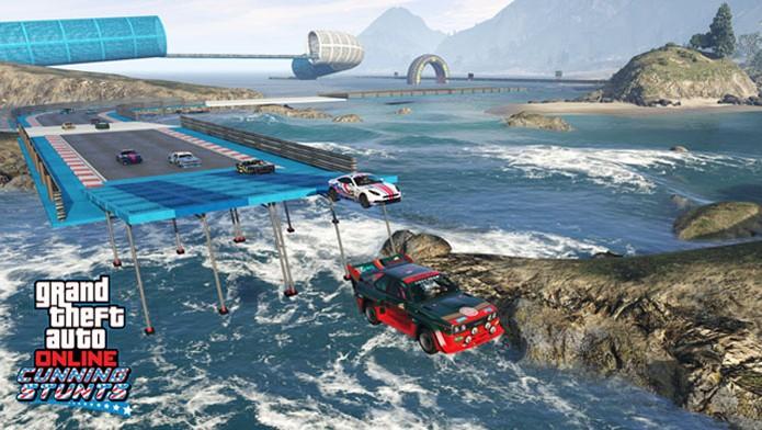 Crie suas pistas de manobras em GTA Online (Foto: Divulgação/Rockstar Games) (Foto: Crie suas pistas de manobras em GTA Online (Foto: Divulgação/Rockstar Games))