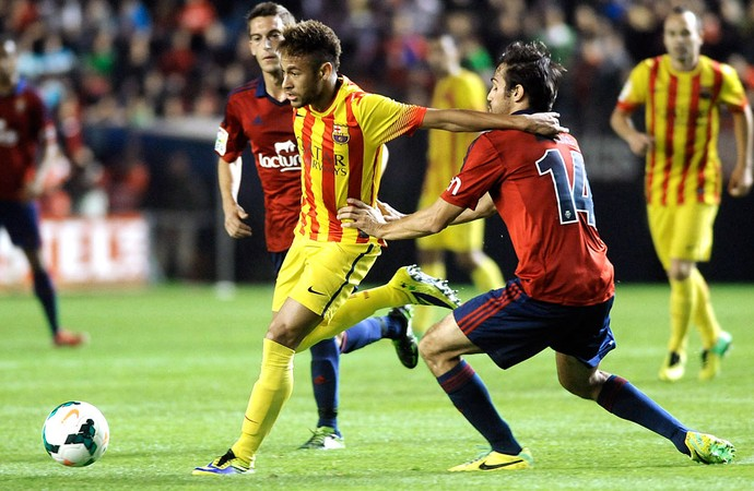 Neymar Osasun e Barcelona (Foto: Agência AFP)