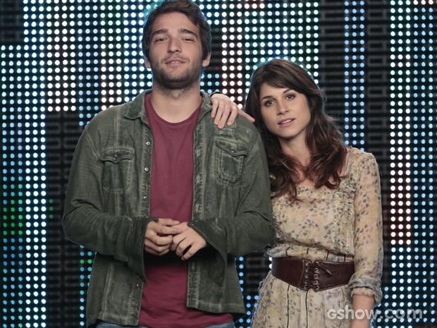 Davi e Manu prontos para apresentar novo desafio (Foto: Felipe Monteiro / TV Globo)