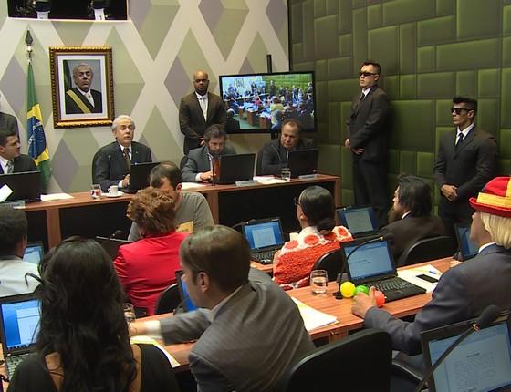 O presidente Michel Temer, na versão de Tom Cavalcante no programa Multi Tom (Foto: Divulgação/Multishow)