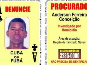 Suspeito era procurado pela polícia por homicídios (Foto: Divulgação/ SSP-BA)