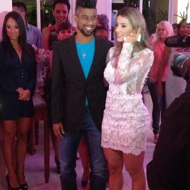 Léo Moura e Camila Silva em festa de casamento no Rio (Foto: Instagram/ Reprodução)