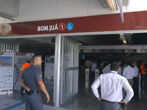 Entrada da Estação Bom Juá, em Salvador. (Foto: Maiana Belo / G1 BA)