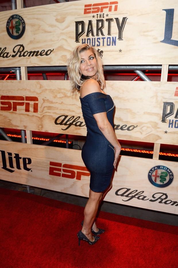 Fergie em evento em Houston, no Texas, nos Estados Unidos (Foto: Gustavo Caballero / Getty Images/ AFP)