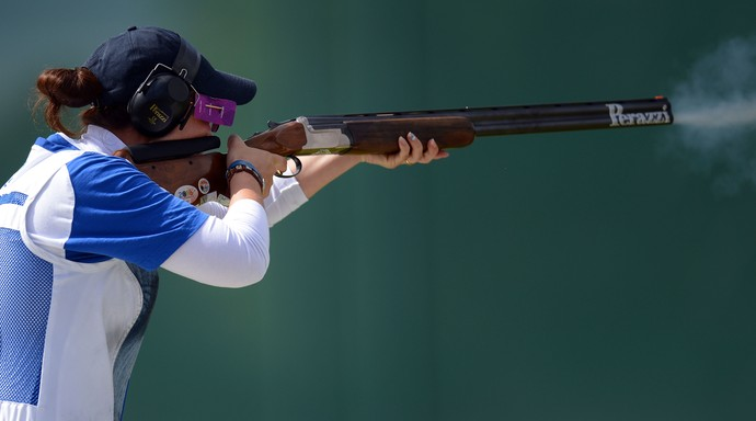 Alessandra Perilli, atiradora de San Marino (Foto: Getty Images)
