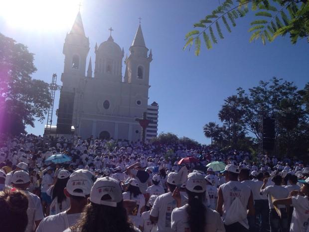 Caminhada da  Fraternidade em  Teresina (Foto: Gustavo Almeida/ G1)