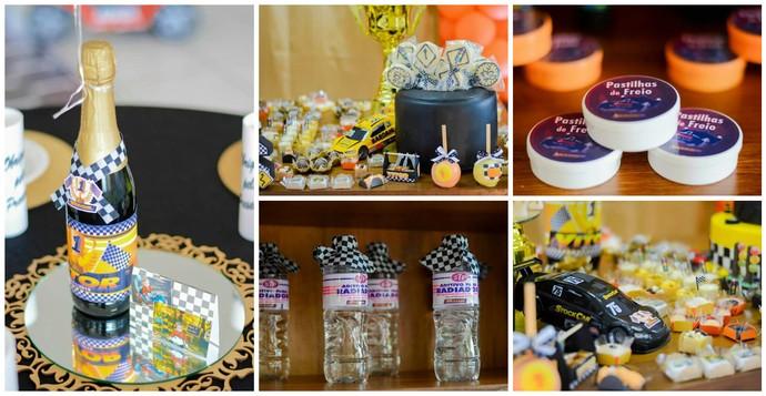 Decoração da festa temática da Stock Car (Foto: Kati Borchoski Fotografia)
