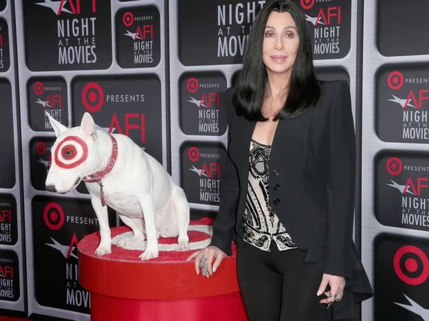 Cher em premiação de cinema em Los Angeles, nos Estados Unidos (Foto: Frederick M. Brown/ Getty Images/ AFP)
