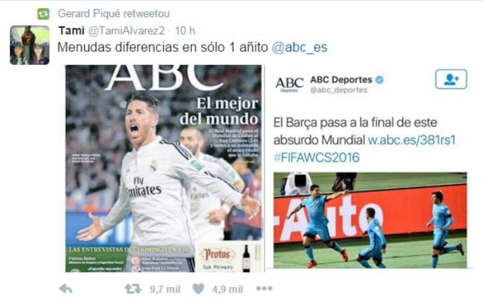 BLOG: Piqué alfineta imprensa de Madri após manchetes diferentes para Real e Barça