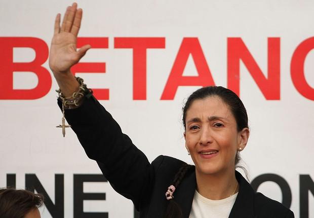 Política e ativista franco-colombiana Ingrid Betancour (Foto: Francois Durand/Getty Images)
