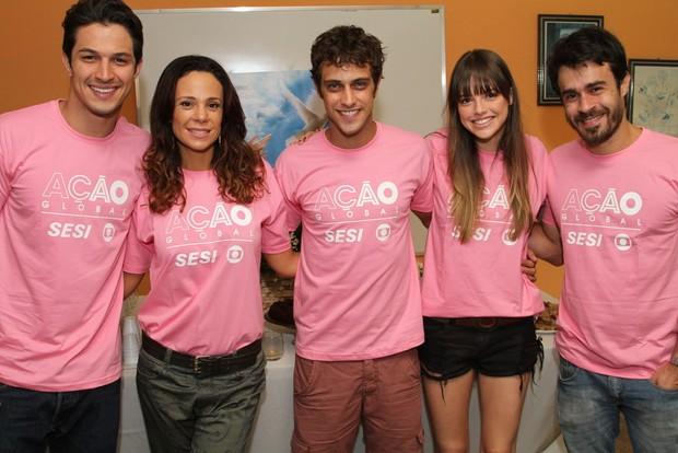 Ronny Kriwat, Vanessa Gerbelli, Rômulo Estrela, Agatha Moreira e Eron Cordeiro (Foto: Anderson Borde/AgNews)