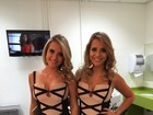 Dose dupla: gêmeas do 'BBB 15' usam o mesmo look na final do programa