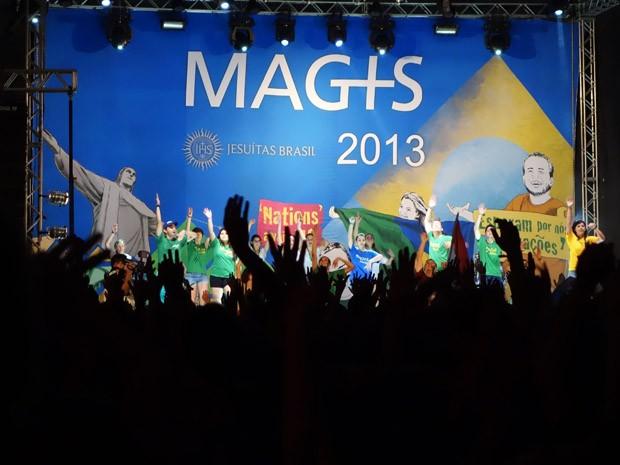 Cerimônia de abertura da pré jornada (Foto: Egi Santana / G1)