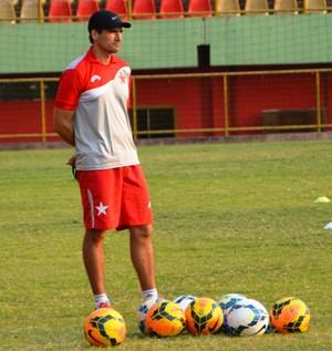 Edson Júnior, técnico do Rio Branco-AC (Foto: Duaine Rodrigues)