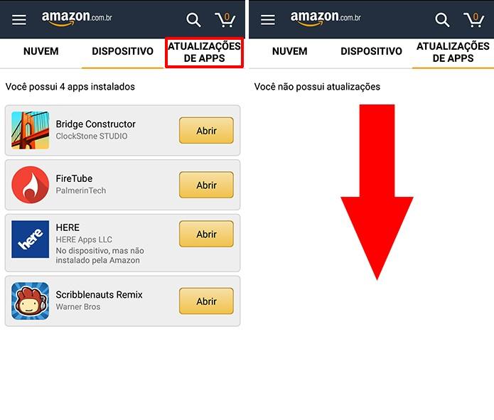 Amazon Appstore tem guia dedicada para atualização de apps e jogos (Foto: Reprodução/Elson de Souza)
