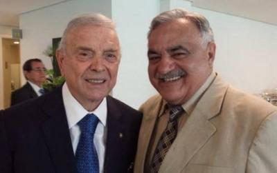 Presidentes da CBF, José Maria Marin, e da FFMS, Francisco Cezário de Oliveira (Foto: Divulgação/FFMS)