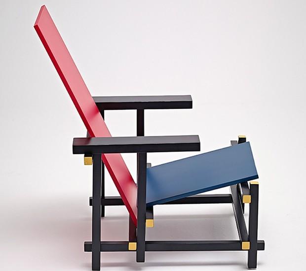 centenário-poltrona-red-and-blue -design-moderno-gerrit-rietveld (Foto: Divulgação)