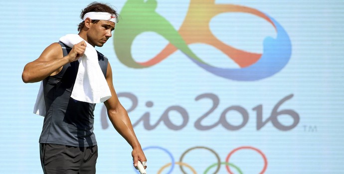 Rafael Nadal treino Olimpíada Rio (Foto: Kevin Lamarque / Reuters)