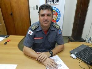 Comandante do Corpo de Bombeiros de Uberlândia, Itamar Caetano Filho (Foto: Caroline Aleixo/G1)