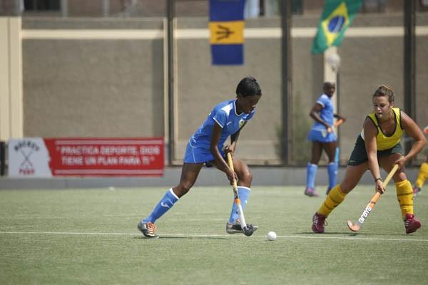 Na final, a seleção brasileira feminina goleou Barbados no Pan-American Challenge (Foto: Federação Pan-Americana de Hóquei (PAHF).)