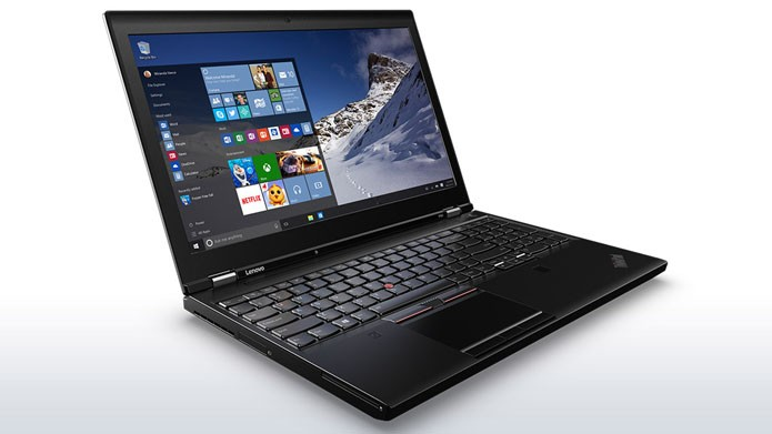 O Thinkpad P50S, da Lenovo, tem visual robusto, mas desempenho mediano (Foto: Divulgação/Lenovo)