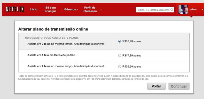 Confira os três novos valores dos planos da Netflix no Brasil (Foto: Reprodução/Netflix)
