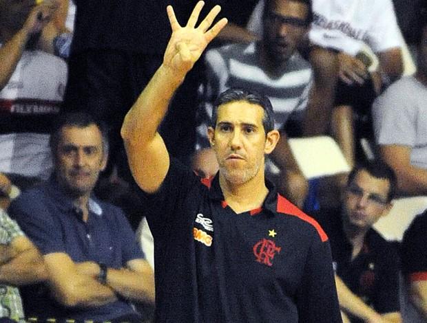 José Neto técnico do basquete do Flamengo (Foto: Alexandre Vidal / Fla Imagem)
